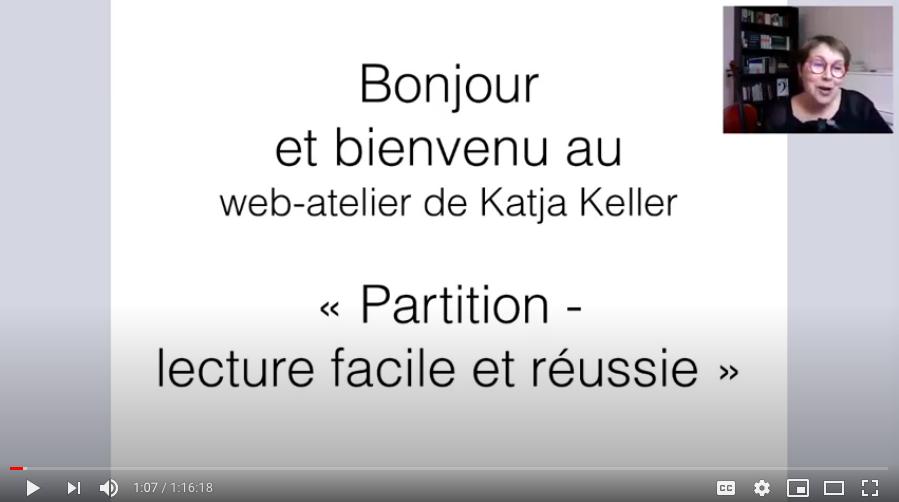 Web-atelier «Partitions : lecture facile et réussie»